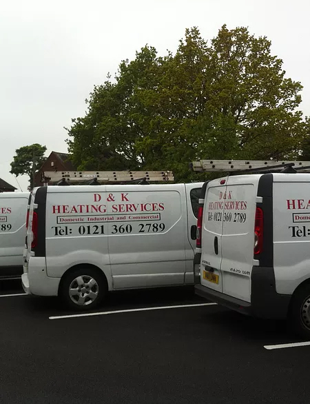 D and K heating services van